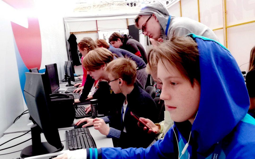 Пресс-центр Твори-Гора на First Russia Robotics Championship в Красноярске